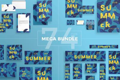 Design templates bundle | flyer, banner, branding | Summer Party