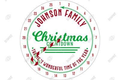 Cafe Advent Christmas Countdown - Stencil Design
