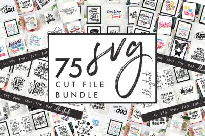 SVG Bundle, SVG Cut File Bundle, SVG quote bundle, dxf bundle