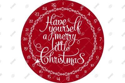 Merry Little Christmas Advent Countdown Calendar - Stencil Design