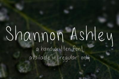 ShannonAshley - a Handwritten Font