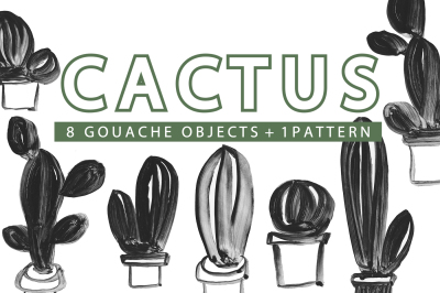 CACTUS - Gouache Illustrations Pack