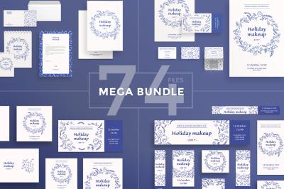 Design templates bundle | flyer, banner, branding | Makeup Masterclass