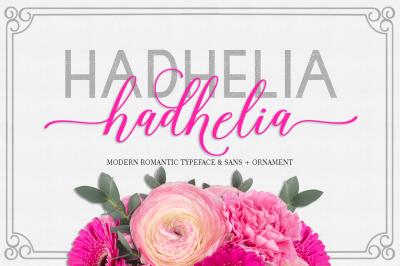Hadhelia Script, Sans + Ornament