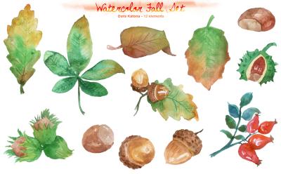 Watercolor Fall Cliparts