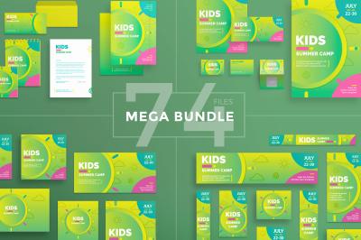 Design templates bundle | flyer, banner, branding | Kids Summer Camp
