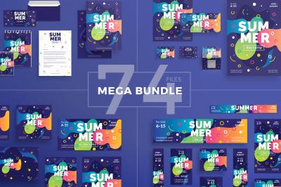 Design templates bundle | flyer, banner, branding | Summer Camp