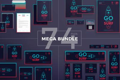 Design templates bundle | flyer, banner, branding | Surf Club