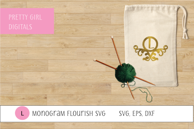 Monogram L Flourish Frame
