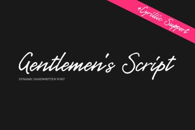 Gentlemen's Script