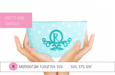 Monogram R Flourish Frame