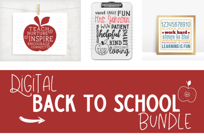 Back To School Digital Bundle