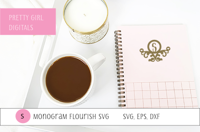 Monogram S Flourish Frame