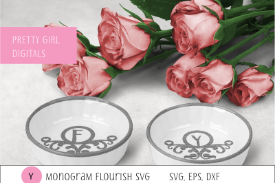 Monogram Y Flourish Frame