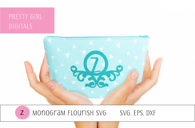 Monogram Z Flourish Frame