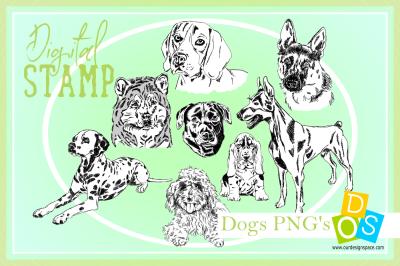 Dog PNG Digital Stamps
