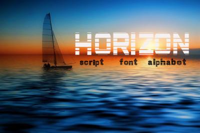 Horizon script, font
