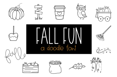 Fall Fun - A Fall / Autumn Doodles Font