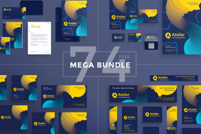 Design templates bundle | flyer, banner, branding | Makeup Atelier