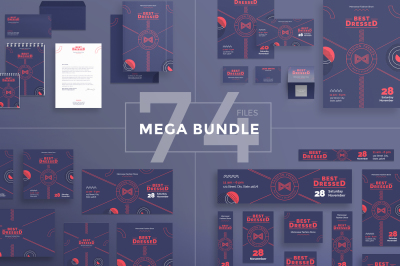 Design templates bundle | flyer, banner, branding | Menswear Fashion Show