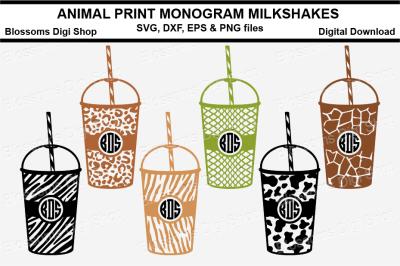 Animal Print Monogram Milkshakes
