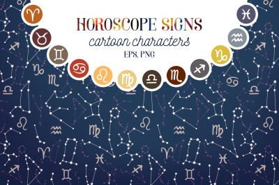 Vector horoscope signs