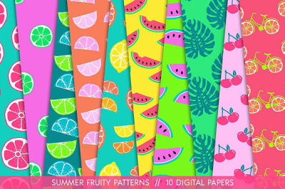 Tropical Fruit Patterns