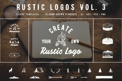 Rustic Logos Volume 3 AI EPS PNG PSD