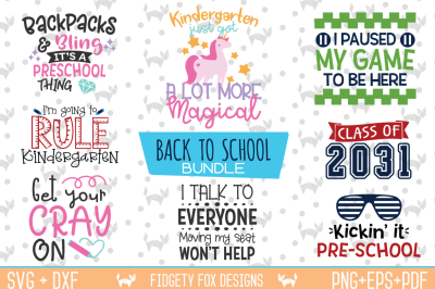 Back To School Svg Bundle - First Day, Preschool, Kindergarten Svg
