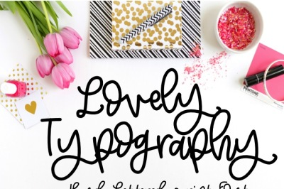 Lovely Typography Hand Lettered Modern Calligraphy Font