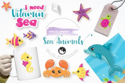 Sea Animals graphics and illustrations