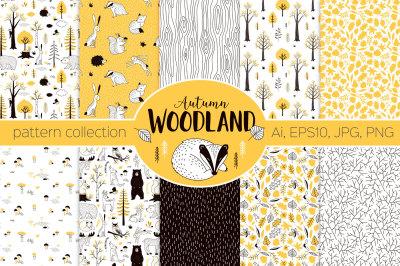 Autumn Woodland pattern set