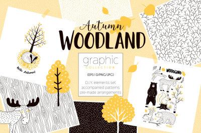 Autumn Woodland graphic kit
