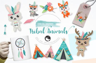 Tribal animals graphics and illustrations