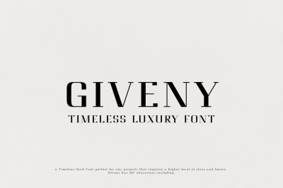 Giveny -  Timeless Luxury Font