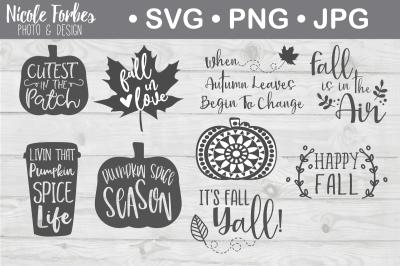 Fall SVG Cut File Bundle