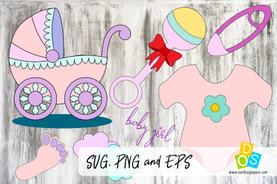Baby Girl SVG, PNG and EPS