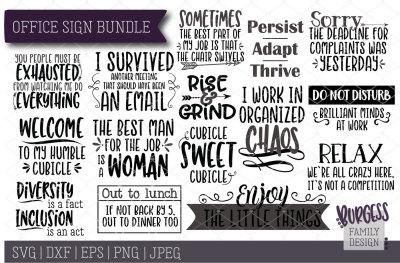 BUNDLE | Office Signs | Cut files & Printables