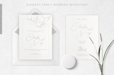 Elegant Craft Wedding Invitation As.3