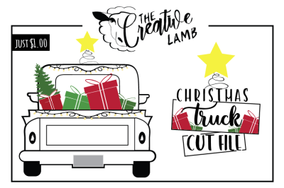 Christmas Truck Cut File Christmas SVG