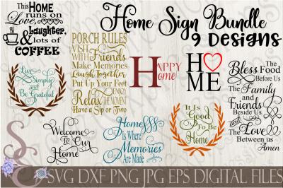 Home SVG Sign Bundle