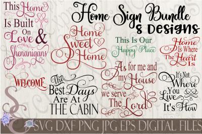 Home Sign Bundle SVG