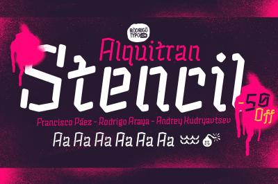 Alquitran Stencil Regular+Round
