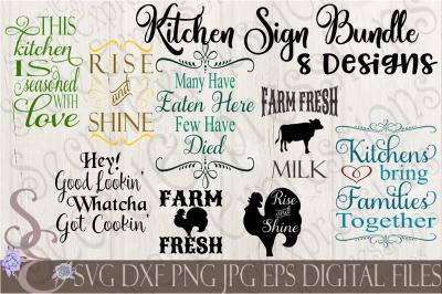 Kitchen Sign SVG Bundle