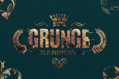 36 Grunge Style Photoshop