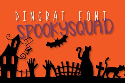 Spooky Squad - Halloween Dingbat Font