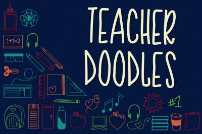 Teacher Doodles - Dingbat Font