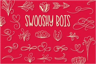 Swooshy Bois - Ornament Font