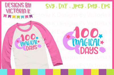 100 Magical Days, School, SVG, DXF, PNG