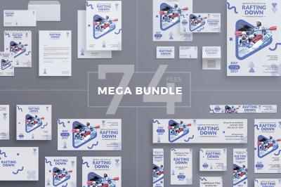Design templates bundle | flyer, banner, branding | Rafting Adventure